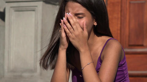 Teenage Girl Crying Footage
