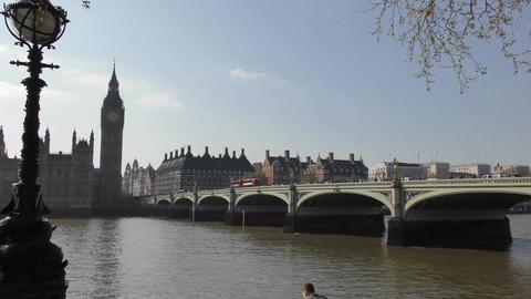 The bridge leading to Big Ben Footage