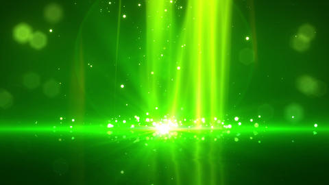 SHA Particle Bounce BG Green CG動画