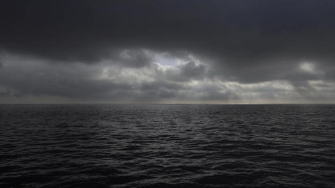 Dramatic Sky over the Ocean Footage