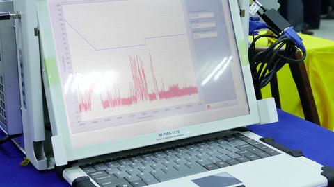 Portable Monitoring Medical Machine stock footage
