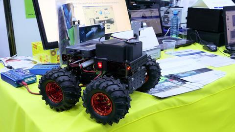Robotic Car stock footage