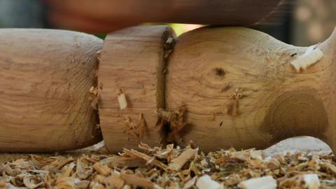 Sanding Furniture Leg Footage