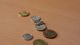 hide czech coins from table Footage