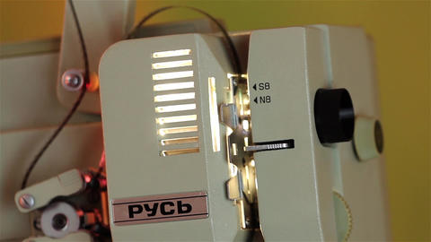 Old film projector brought to life for projection private 2 Footage