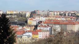 PRAGUE, CZECH REPUBLIC - MARCH 2014: Panorama of Prague Footage