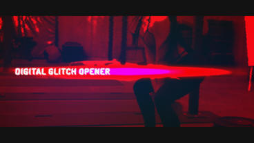 Digital Glitch Opener After Effects Project