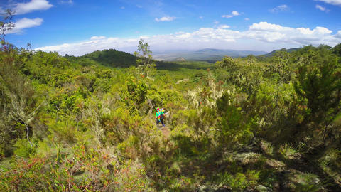 Hiking trails on the slopes of mount Meru Footage