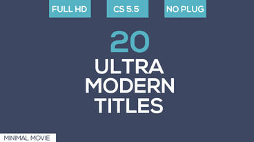 20 Ultra Modern Titles After Effects Project