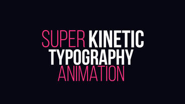Dynamic Kinetic Typography After Effects Project