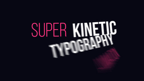 Dynamic Kinetic Typography After Effects Template