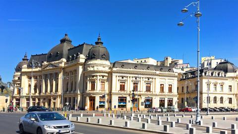 Revolution Square In Bucharest, Romania Footage