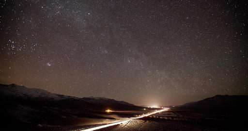 Stars and Milky Way Time Lapse Footage