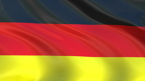 German flag waving in the wind. Looped video Footage