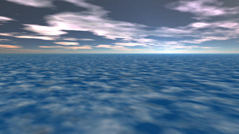 Abstract landscape violet clouds Animation