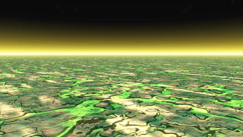 Abstract landscape bump ground Animation