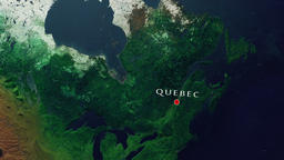 Quebec - Canada zoom in from space Animation