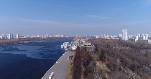 Khimki Reservoir and port Image