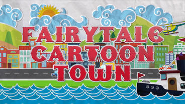 Fairytale cartoon town Plantilla de Apple Motion