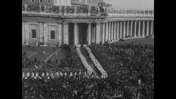 Pope John XXIII Opens Second Vatican Council 1962 Filmmaterial