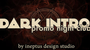 Dark intro promo night club Apple Motionテンプレート