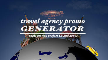 Travel agency promo generator Apple Motion Project