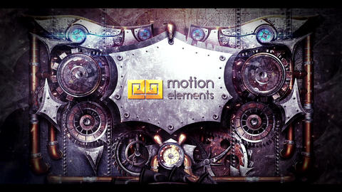 Steampunk Metal Logo After Effects Template
