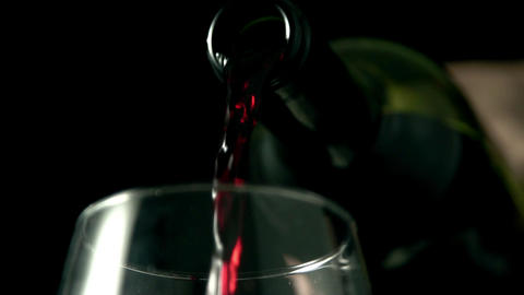 Wine poured into glass Footage