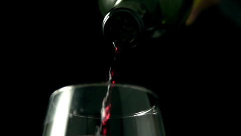 Wine poured into glass ビデオ