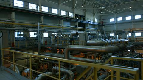 Motion over Metal Platform to Large Finished Compressor Footage