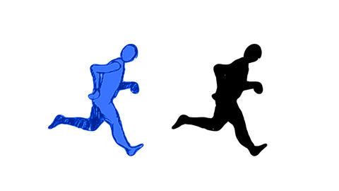 Running Silhouette CG動画素材