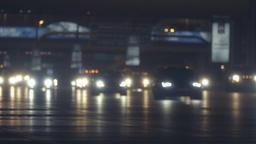 Night road traffic Dubai highway HD video Сar lights lighting in darkness City Footage