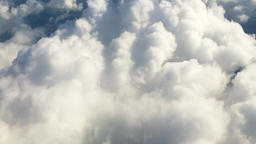 Cloudscape HD nature aerial video background. Flying above сumulus clouds Footage