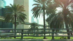 POV driving on Dubai downtown street HD UAE cityscape video. City architecture Footage