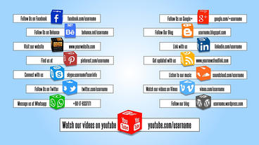 Social Media Cube Lower Thirds After Effects Template