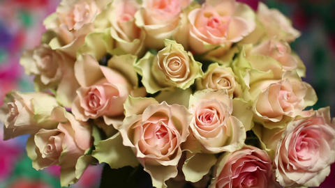 beautiful bouquet Flowers roses Footage