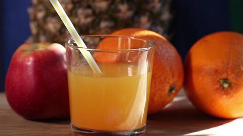 Glasses orange juice Footage