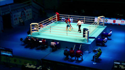 Boxing match time lapse Archivo