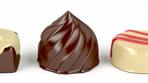 Chocolate candies Animation