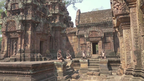 Siem Reap Banteay Srei Temple, Siem Reap, Cambodia Footage