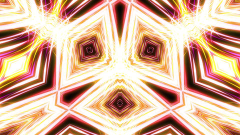 Light Streaks Kaleidoscope Loop Animation