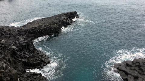 Jejuisland Columnar joint Shoreline 3 ビデオ