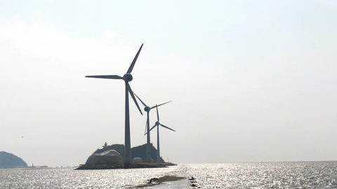 Sea and wind generator 30 (Sound included) Footage