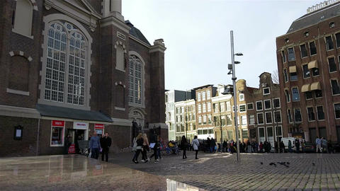 Westerkerk church in the historical center of Amsterdam, Holland Footage