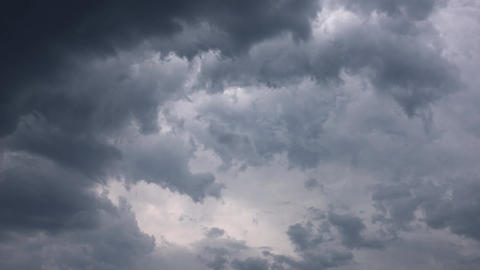 dark storm clouds are moving fast timelapse Footage