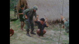 Vietnam War - Vietcong Weapons Found In Village 1968 Filmmaterial