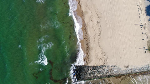 Aerial view of the Japanese sea and beach Filmmaterial