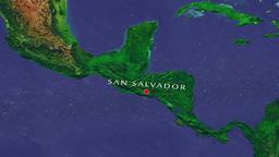 San Salvador - El Salvador zoom in from space Animation