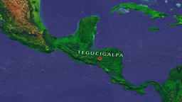 Tegucigalpa - Honduras zoom in from space Animation