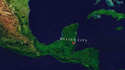 Belize City - Belize zoom in from space Animation